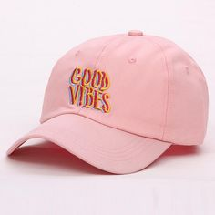 2017 new men women Good Vibes Dad Hat Embroidered Baseball Cap Curved Bill  Cotton Casquette Brand Bone Fashion Hats a1304bf3f4bb