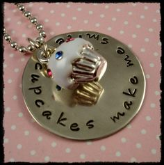 Cute pendant with stamped metal