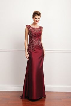 Burgundy Mothers Dresses