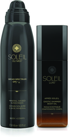 Mineral Based Sunscreen Continuous Mist + Après Soleil Exotic Shimmer Body Oil Set