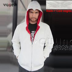 2016 Fashion Best Selling White Assassins Creed Hoodies Factory Outlet Brand Clothing Men Zipper Hoodie Cool Hooded Sweatshirt //Price: $36.00 & FREE Shipping //     #assassins