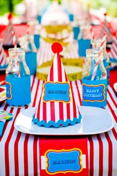 make your own party hats . . . to match the theme
