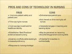 Technology's Pros And Cons