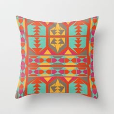 Neo Native Throw Pillow by Jacqueline Maldonado - $20.00