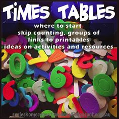 Times Tables: Where To Start? This is the BEST post ever on introducing multiplication to your homeschooler. Step by step ideas. GREAT, use again for Emmitt