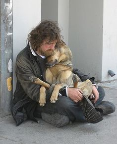 """Image Detail for - ... on the Streets to Stay with Companion Animals   Change.org News...""""Do not judge by appearances, a rich heart may be under a poor coat""""."""