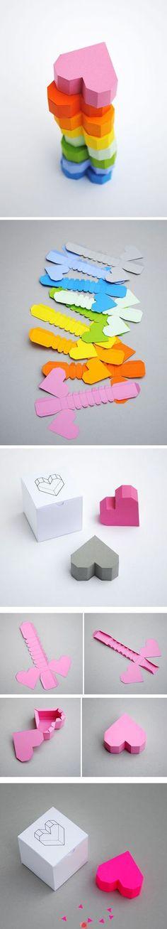 DIY Papier Herz boxen