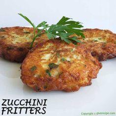 Zucchini and feta fritters | giverecipe.com | #zucchini #feta #fritters