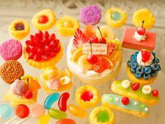 スイーツデコ (H286)25個入り ショートケーキ、タルト、エクレア、クレープ他|デコパーツ|ハンドメイド通販・販売のCreema