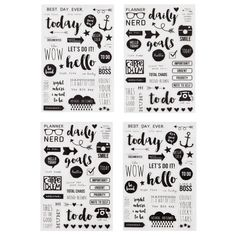 Carpe Diem Clear Planner To Do Today Stickers by PlayingWithColor2