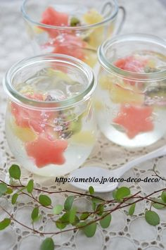Japanese Wagashi, Japanese Sweets, Cute Desserts, Delicious Desserts, Yummy Food, Jello Recipes, Sweets Recipes, Dessert Drinks, Desert Recipes