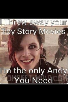 Andy. <<< Confession: I was scared of Toy Story as a child and I like BVB so I prefer Andy from BVB