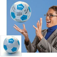 Write your own prompts on this ball. When a student catches the ball, he must respond to the question or prompt under his thumb.