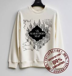 Marauder's Map Shirt Harry Potter Sweatshirt Sweater Hoodie Shirt – Size XS S M L XL - $29.99