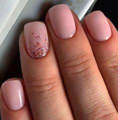 Square Nail Designs, Short Nail Designs, Acrylic Nail Designs, Neutral Nail Designs, Cute Simple Nail Designs, Cute Acrylic Nails, Cute Nails, Short Square Acrylic Nails, Short Square Nails