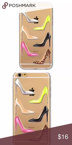 Glamour heels iPhone 7 case Glamour heel iPhone 7 plus clear case. New in package Accessories Phone Cases