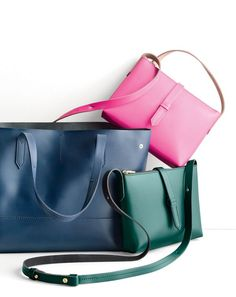NOV '15 Style Guide: J.Crew women's new uptown tote and Parker crossbody bag.