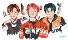 Kpop Drawings, Cute Drawings, Mark Nct, Jaehyun Nct, Nct Taeyong, Korean Art, Sketch Inspiration, Kpop Fanart, Cute Illustration