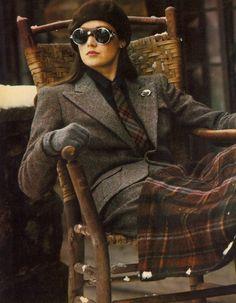 Ralph Lauren vintage tweed and plaid