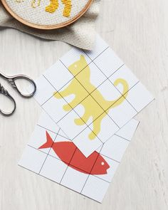 Turn any design into a cross-stitch pattern by printing our grid onto acetate.... tutorial