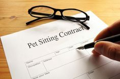 pet sitting contract-6 items to include via @Pet Sitters International (PSI)