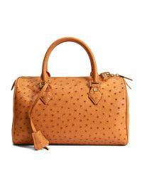 Brown Ostrich Barrel Bag | Brooks Brothers