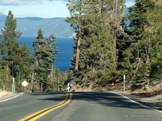 """""""Winding and scenic Highway 89 above Lake Tahoe"""""""