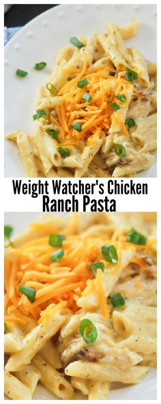 Weight Watcher's Chicken Ranch Pasta #pasta
