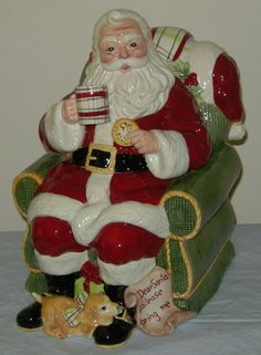 "Vintage Christmas 2009 Fitz & Floyd ""DEAR SANTA"" Ceramic Cookie Jar"