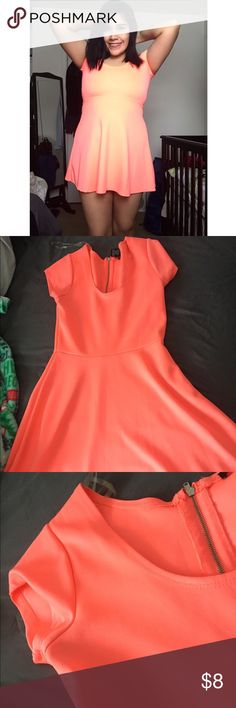 Peachy Short Dress🍑 95% Polyester 5% Spandex, (In good conditions, very cute!💕) Rue 21 Dresses Mini