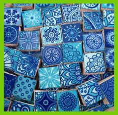 Ceramic Mosaic Tiles - Medallions Moroccan Tiles Pieces of Mosaic Shades of Blue Light Purple - 9 . Ceramic mosaic tiles – medallions Moroccan tiles mosaic pieces shades of blue light purple – 90 Ceramic Mosaic Tile, Mosaic Art, Mosaic Glass, Ceramic Art, Ceramic Light, Mosaics, Art Clay, Mandala, Mosaic Pieces