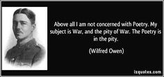 Image result for wilfred owen quote