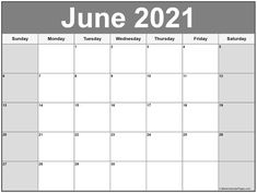 June 2021 calendar | free printable calendar templates Monthly Schedule Template, Blank Monthly Calendar Template, Printable Blank Calendar, Calendar Templates, Monthly Calendars, Calendar Design, Printable Templates, July Calendar, Online Calendar