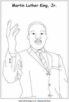 Dr Martin Luther King Jr colouring page
