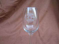 Genesee & Wyoming Railroad Wine Glass or Water Goblet, G&W Rail