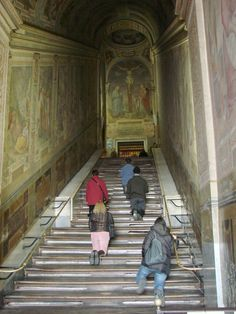 St. John Lateran, Chapel of Sancta Sanctorum (chapel of the popes), where image of Jesus is venerated, plus The Holy Stairs (28 steps leading to the chapel)