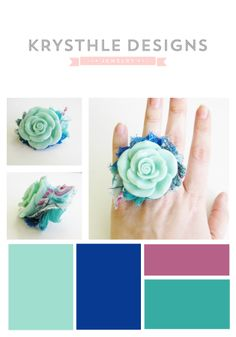 Some fresh spring hues including Pantone 2014 Hemlock, radiant orchid and dazzling blue!