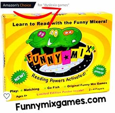 So Proud to be Amazon's Choice for Dyslexia Games!  The FUNNY MIX Superhero Phonics Game helps children practice long/short vowels in 3- and 4-letter words that become the Superhero's Names!  Here's to helping All Children Learn to Read!  Funnymixgames.com  #dyslexia #literacy #kindergarten #firstgrade #preschool #homeschool #superhero #superheroes #cards #backtoschool #phonics #phonemicawareness #ortongillingham Reading Games For Kindergarten, Kids Reading, Reading Skills, Kindergarten Activities, Reading Strategies, Teaching Phonics, Phonics Activities, Phonics Cards, Dyslexia