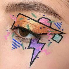 69 trendy makeup tutorial eyeshadow kids 69 trendige Make-up Tutorial Lidschatten Kinder Creative Makeup Looks, Unique Makeup, Beautiful Eye Makeup, Cute Makeup, Retro Makeup, 80s Eye Makeup, Eyeshadow Makeup, 80s Makeup Looks, Party Eye Makeup