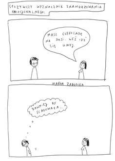 by Marta Zabłocka zycie-na-kreske.blogspot.com Comic Strips, Photo And Video, Comics, Funny, Comic Books, Funny Parenting, Cartoons, Comic, Hilarious