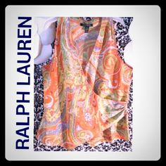 BEAUTIFUL BLOUSE This blouse looks even better in person, pre owned without any stains or smells. excellent condition. Ralph Lauren Tops Blouses