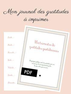 Journal de gratitudes - PDF à imprimer – Shirley Chiche