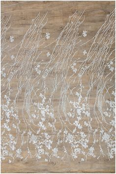 Wedding Lace fabric with floral elements soft embroidered