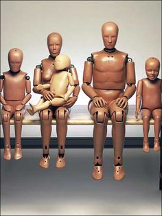 Original Crash Test Dummies from the 50s