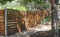 Custom Horizontal Privacy Fence