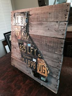 Distressed Wood Planked California License Plate Art by GoliathDesigns on Etsy https://www.etsy.com/listing/215982886/distressed-wood-planked-california