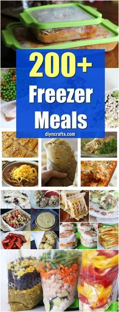 200+ Easy To Make Freezer Meals That Save You Time And Money - Easy Make Ahead Crockpot Recipes Your Family Will Love!