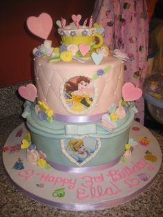 Princess Tea Party Birthday Cake Ideas - Share this image!Save these princess tea party birthday cake ideas for later by s Tea Party Birthday, Cool Birthday Cakes, 3rd Birthday, Birthday Ideas, Princess Theme Party, Disney Princess Birthday, Little Girl Birthday, Bday Girl, Butterfly Party