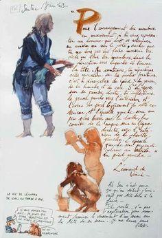 By Yann Lesacher Travel Sketchbook, Watercolor Sketchbook, Sketchbook Drawings, Artist Sketchbook, Illustration Sketches, Illustrations, Watercolor Art, Watercolour Tutorials, Watercolor Techniques