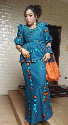 African Maxi Dresses, Latest African Fashion Dresses, African Attire, African Wear, African Women, Ankara Short Gown Styles, Short Gowns, Mode D'ankara, Ankara Peplum Tops